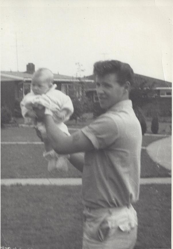 Baby Rebekah with David 1962-1